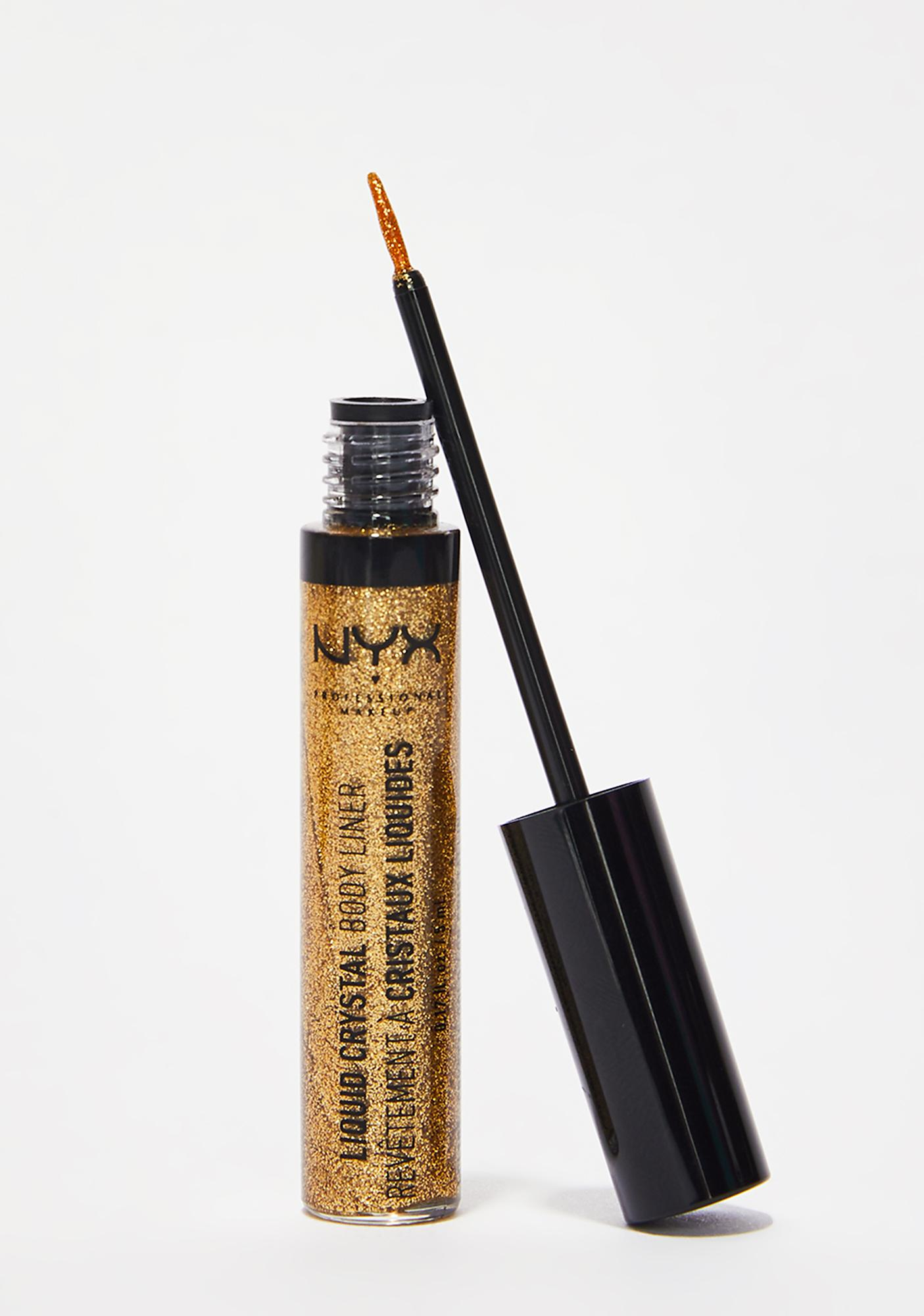 NYX Crystal Gold Liquid Crystal Body Liner