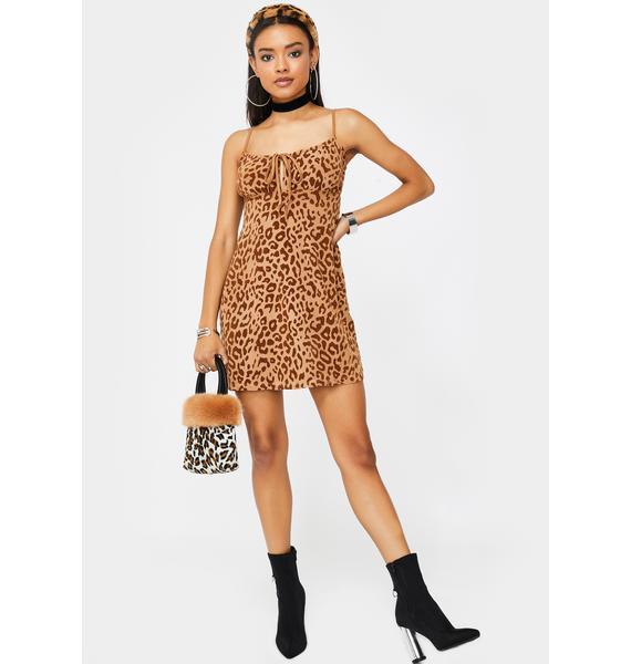 Motel Tan Leopard Kumin Dress