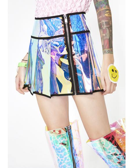 Cosmic Outlaw Pleated Skirt