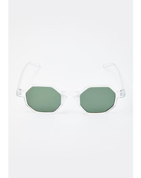 Clear Skies Circle Sunglasses