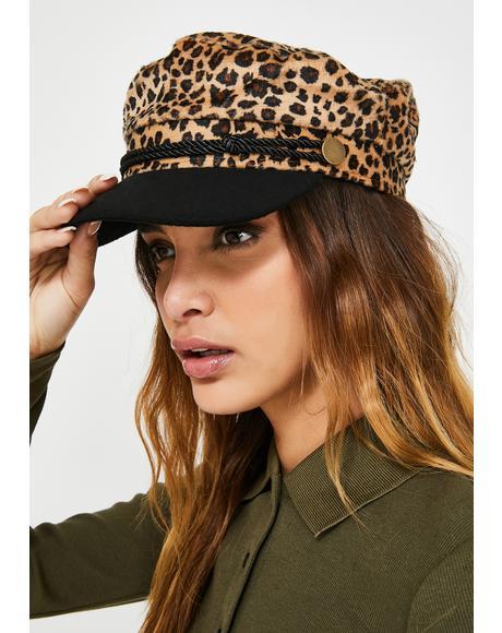 Top Catitude Leopard Fiddler Cap