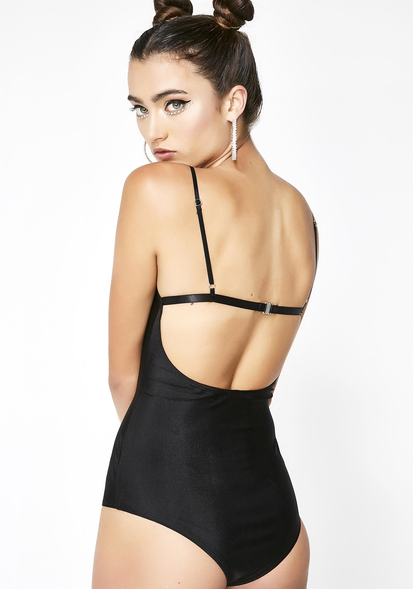 Midnight Like it Hawt Tank Bodysuit