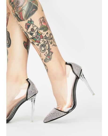 Big Bucks Rhinestone Heels