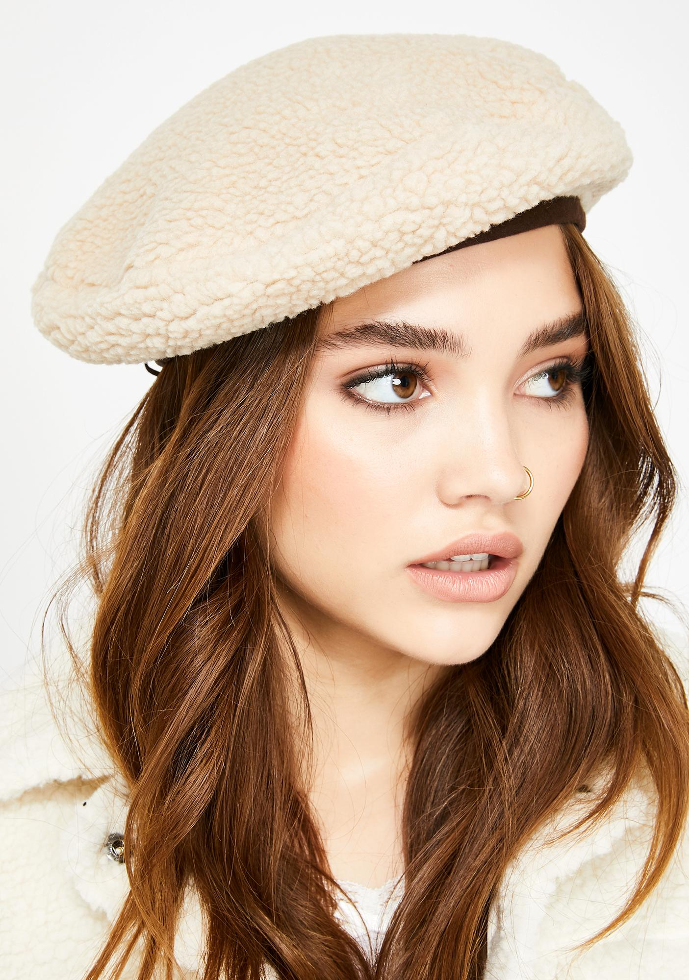 Baby Don't Herd Me Sherpa Beret