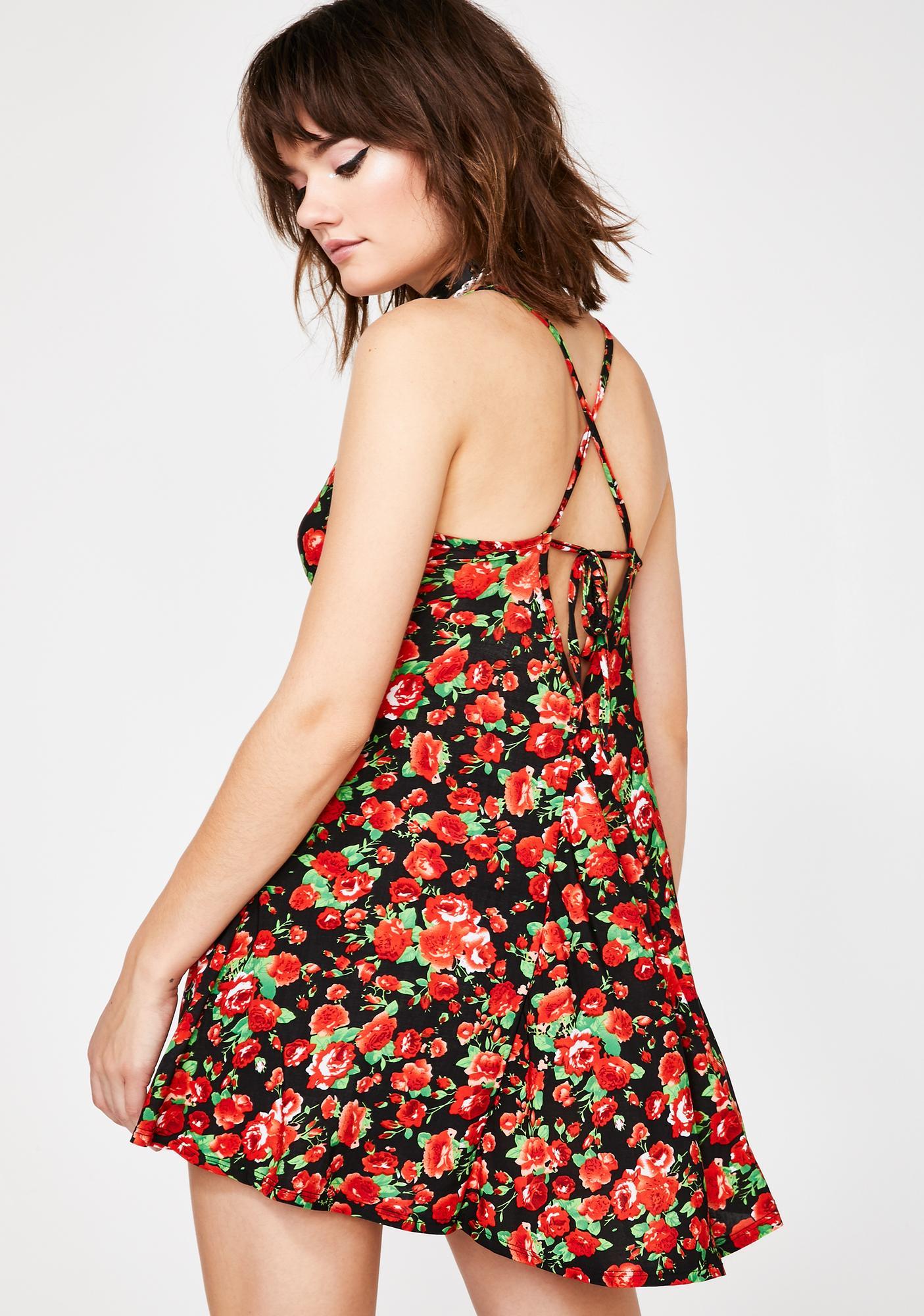 Bed Of Roses Mini Dress