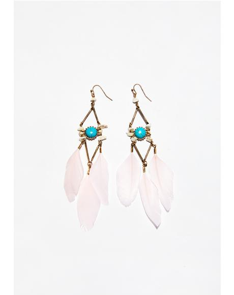 Discover Yourself Feather Earrings