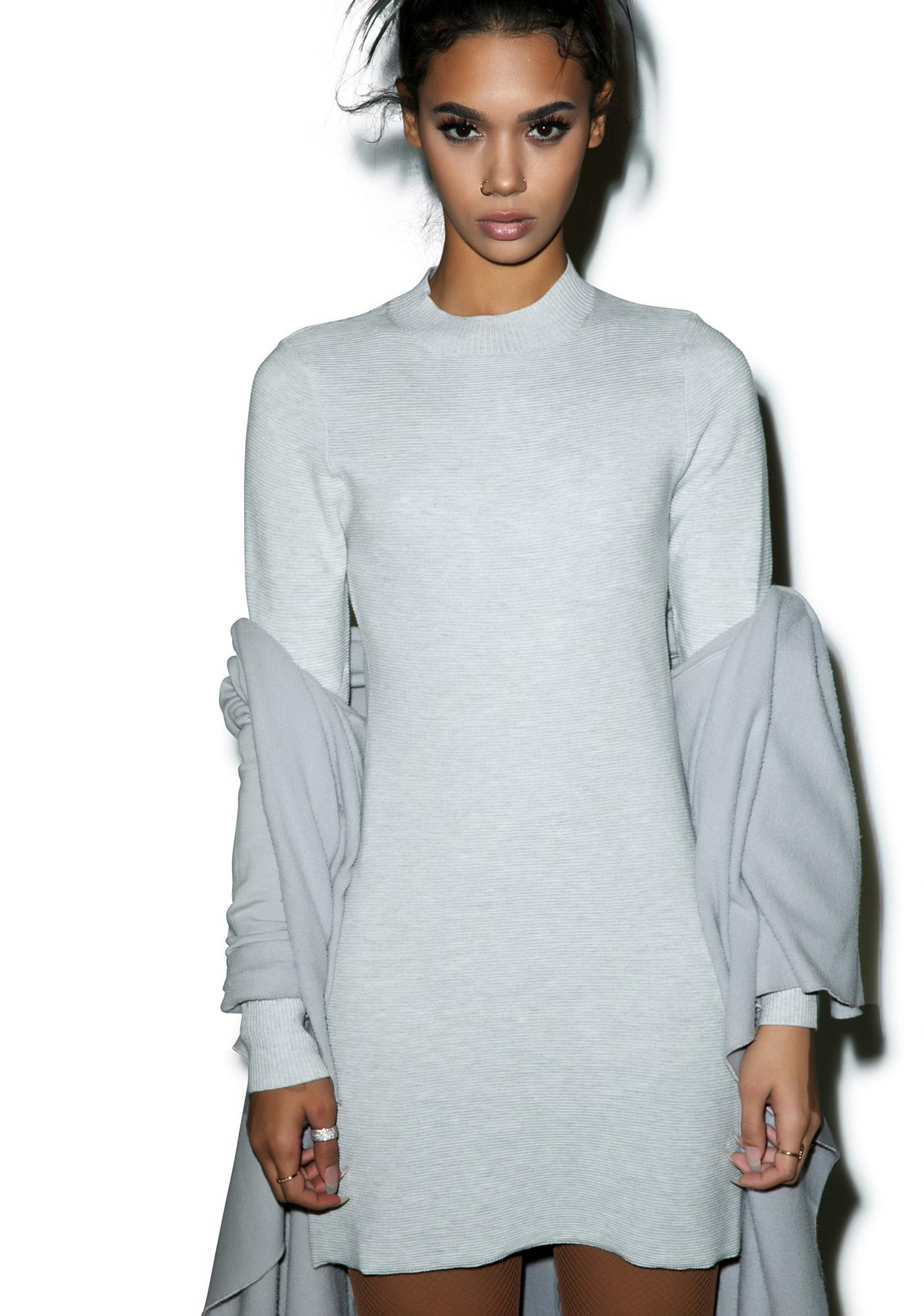 Mink Pink Ultimate Knit Longsleeve Dress