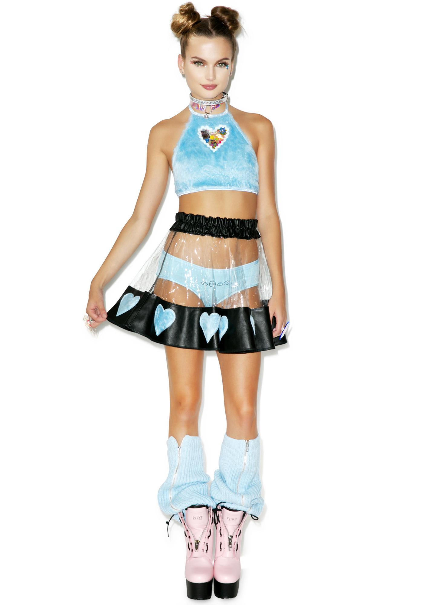 Indyanna Courtney Lust PVC Heart Skirt