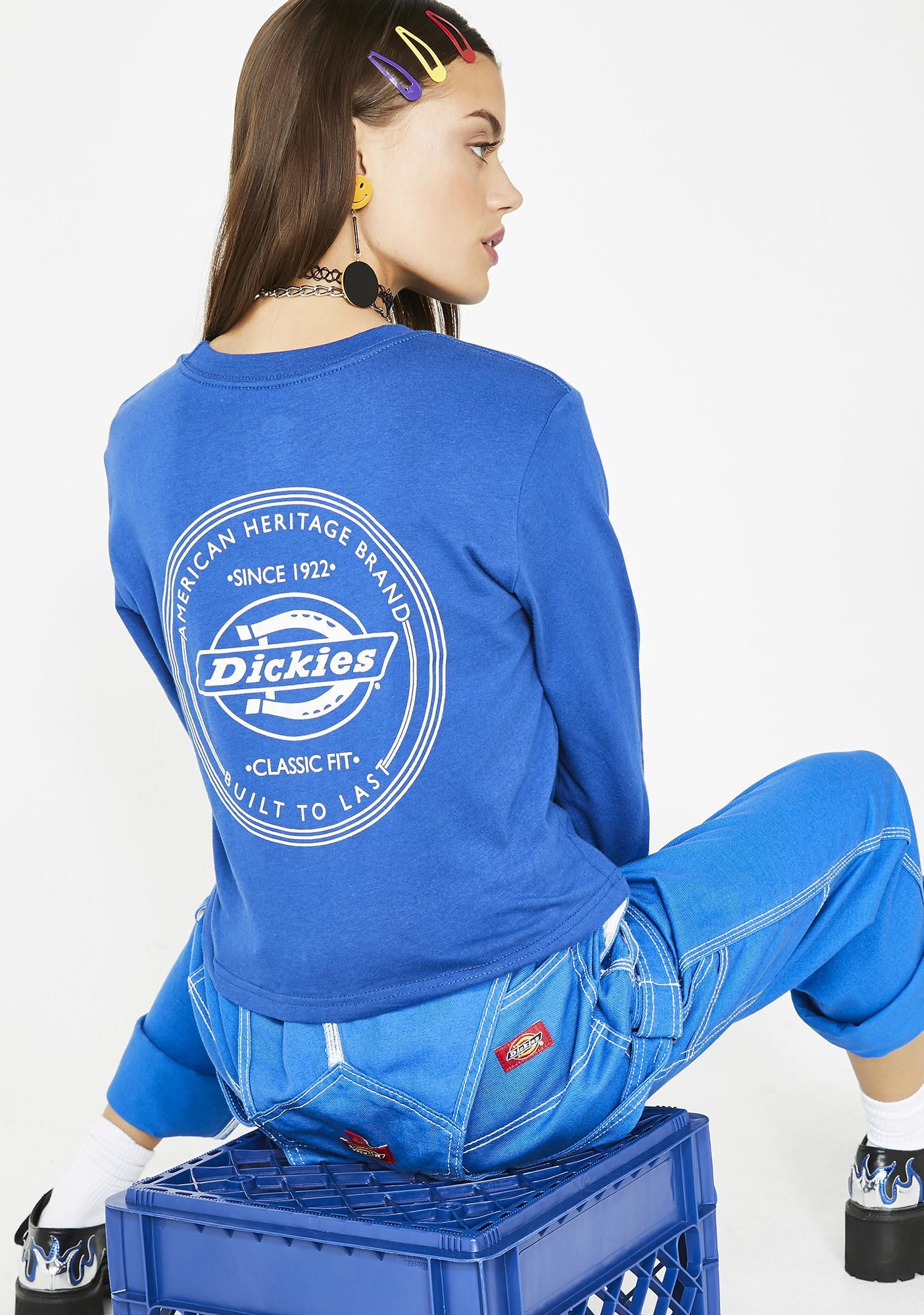Dickies Girl Indigo Vintage Stamp Relaxed Tee