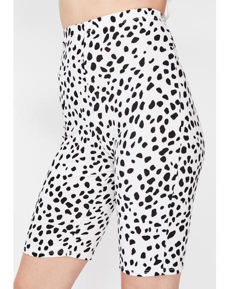 Spotted Baddie Biker Shorts