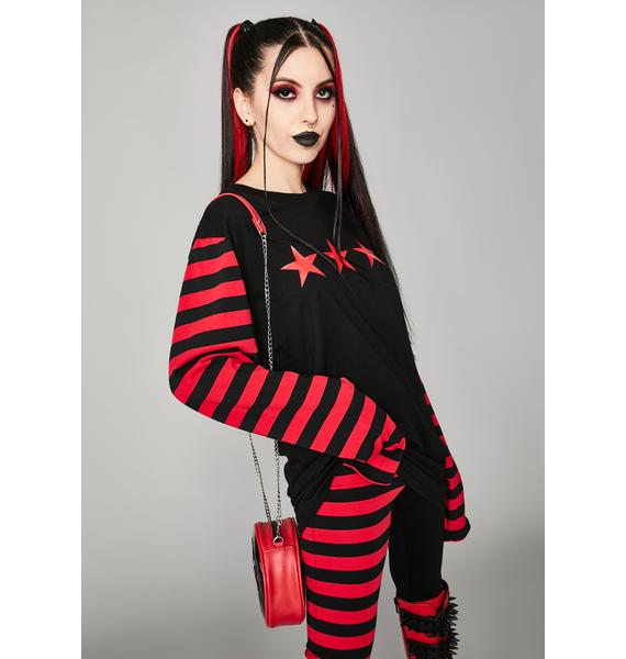 Widow Nation Of Misfits Long Sleeve Graphic Tee