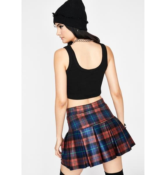 Copper Wicked Scholar Plaid Skirt