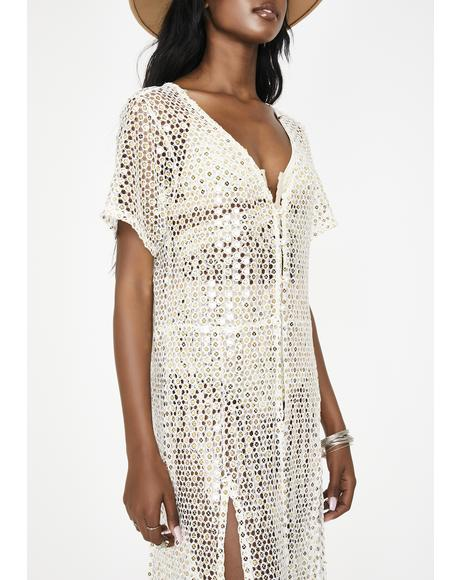 White Mirror Kokomo Sequin Duster