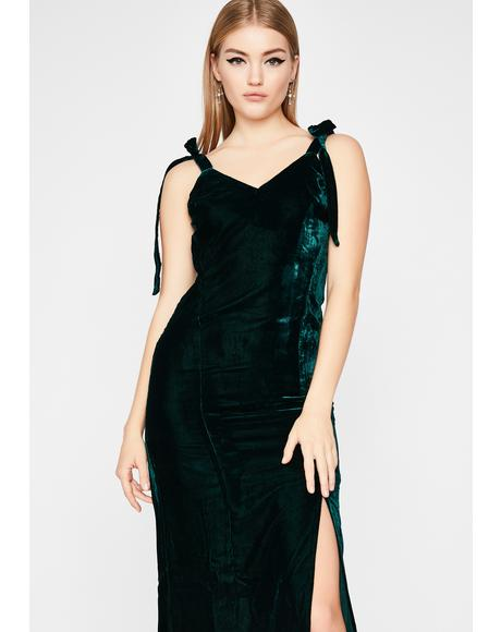 Jaded Cascade Maxi Dress