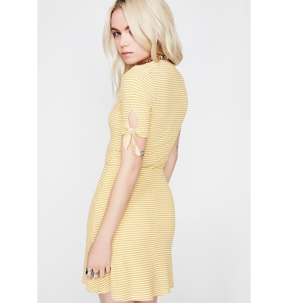 All The Buzz Striped Dress