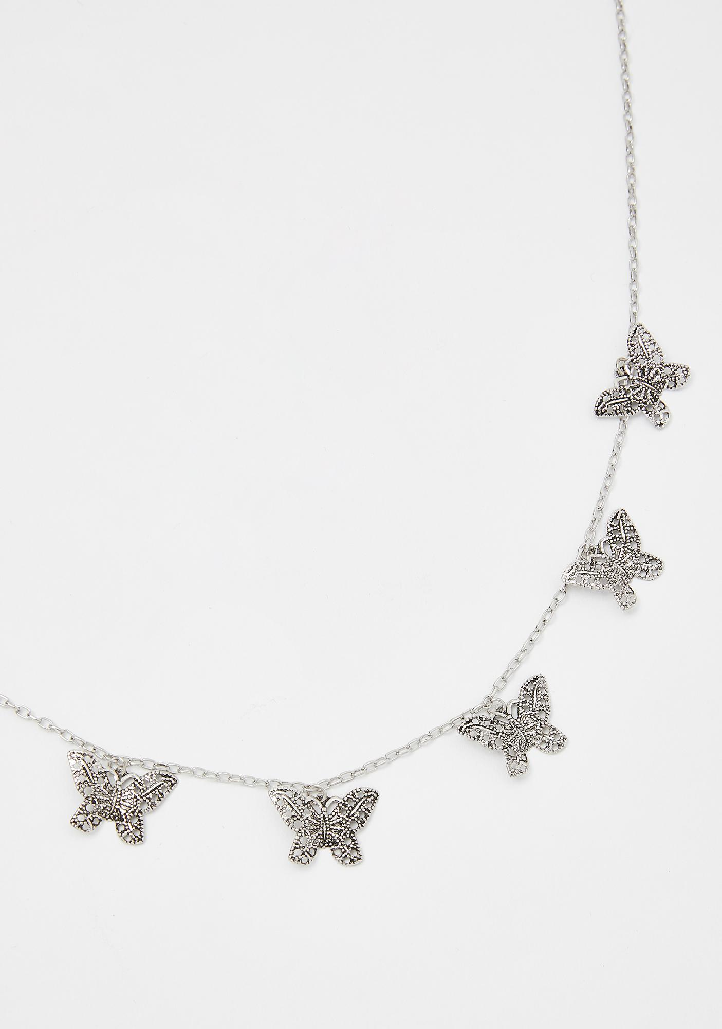 Butterfly Away Chain Necklace
