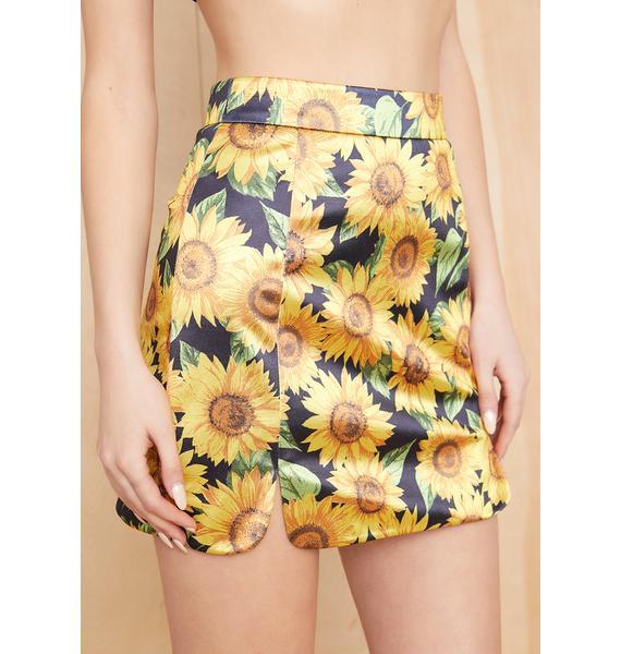 Current Mood Eternal Sunshine Satin Skirt