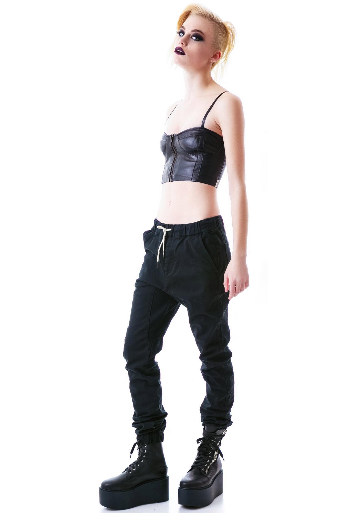 One Teaspoon GTS Leather Bodice