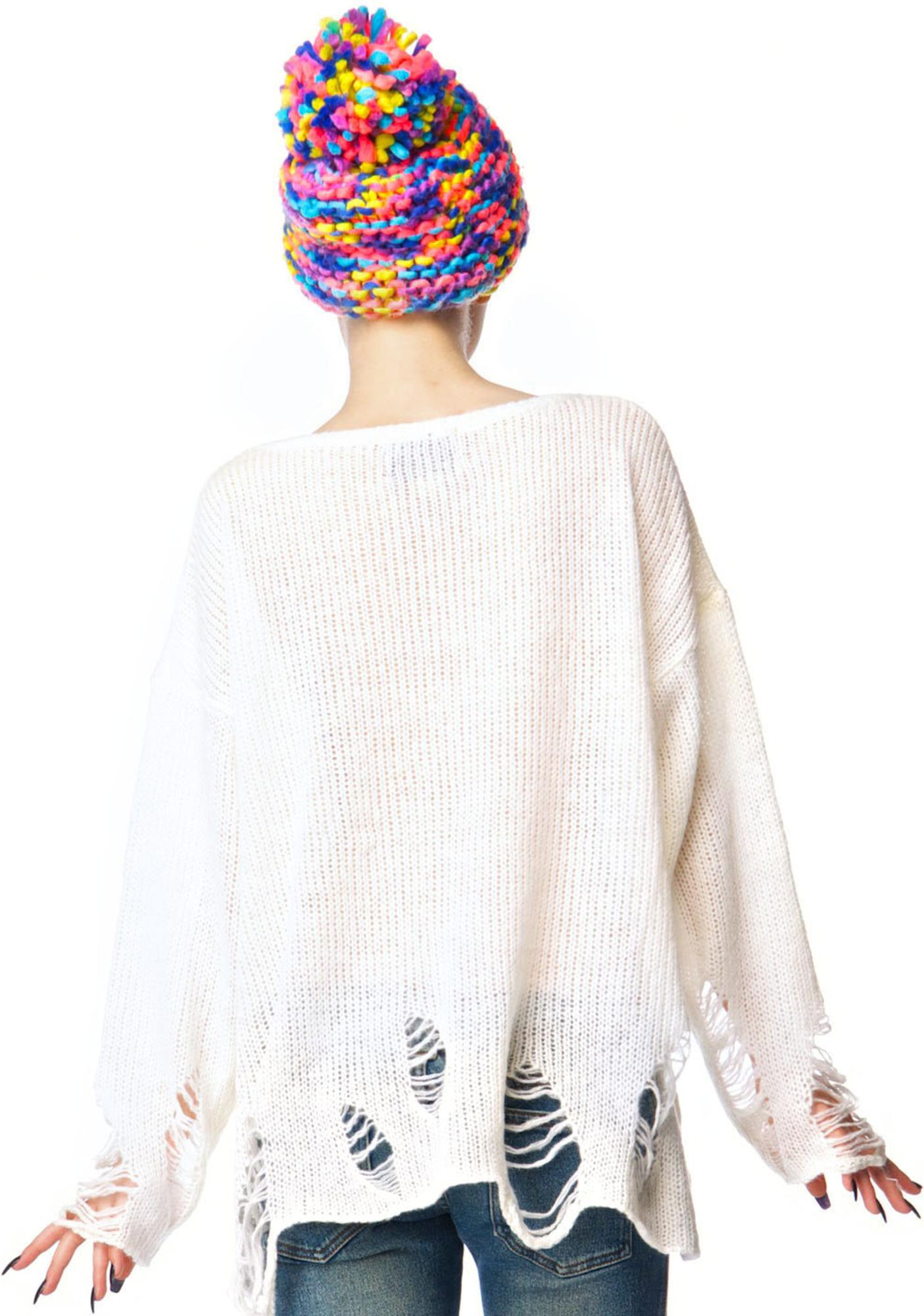Wildfox Couture Rainbow Dreamer Lennon Sweater