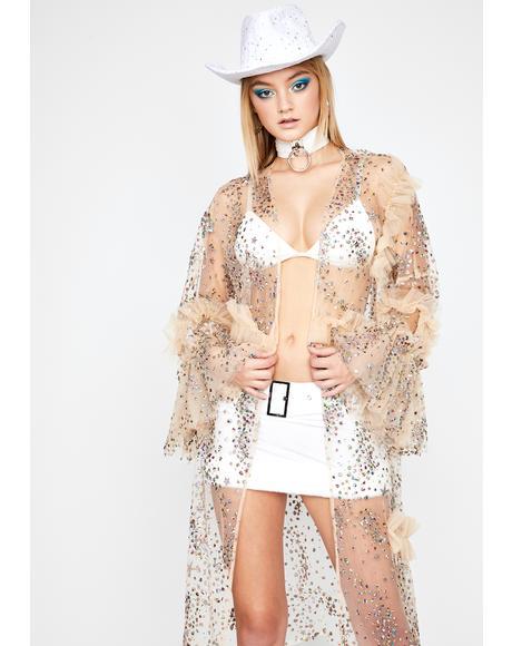 Bare Celestial Boudoir Glitter Kimono