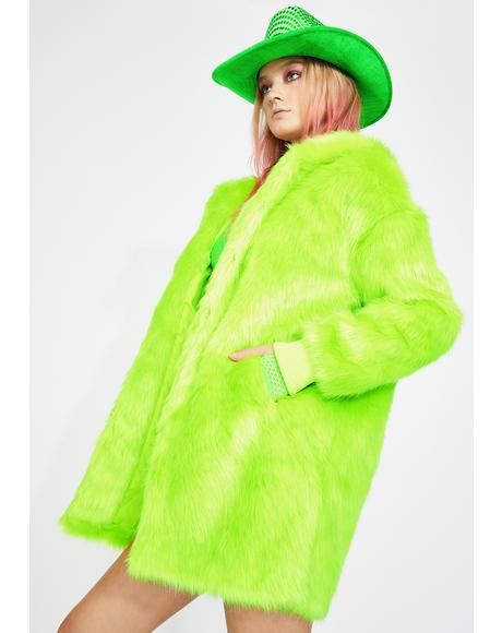 Mainstage Martian Faux Fur Jacket