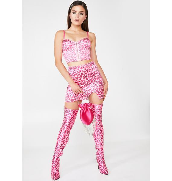 Sugar Thrillz Kitten Von Rouge Leopard Skirt
