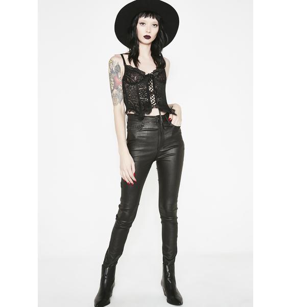 Momokrom Pleather Skinny Jeans