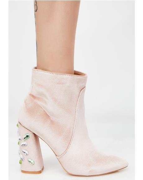 Reverend Velvet Ankle Boots