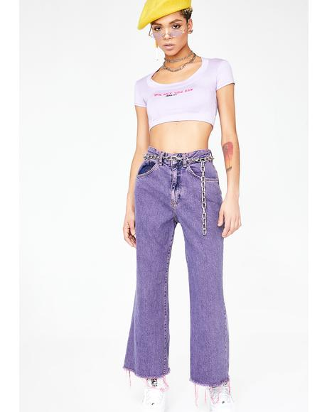Overdyed Crop Jeans
