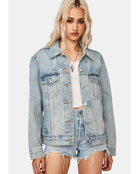 For Real Ex-Boyfriend Trucker Jacket