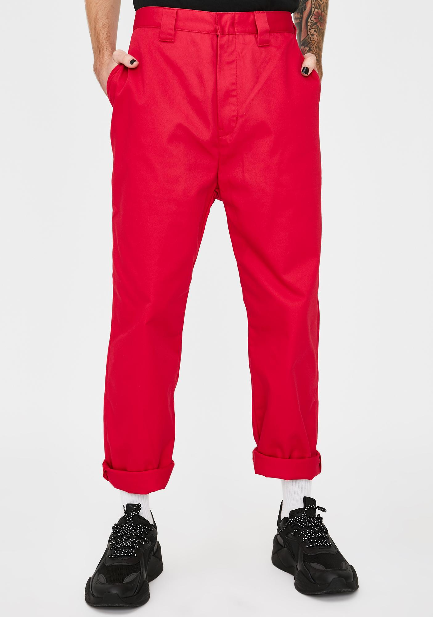 XLARGE Fuchsia Patched Work Pants