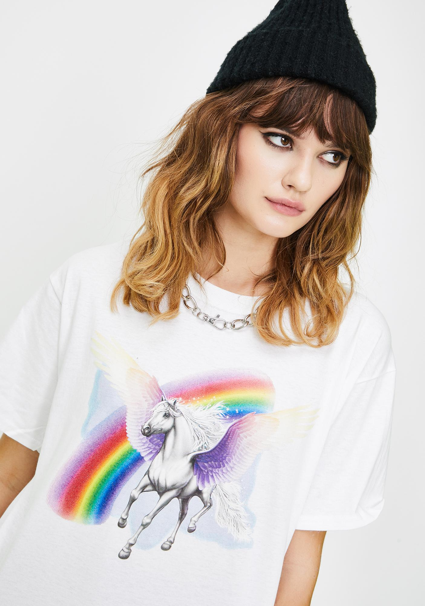ONLY FRIEND Unicorn Graphic Tee