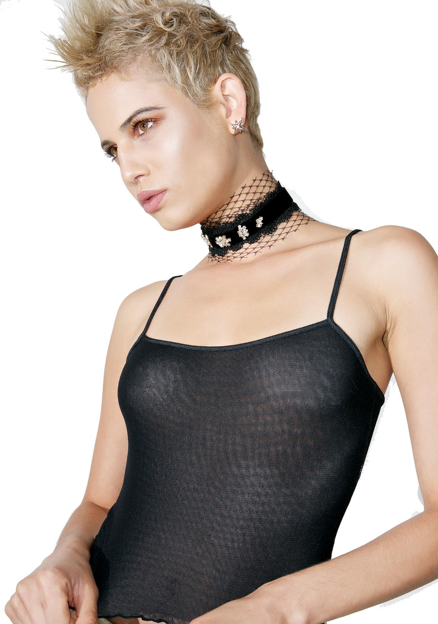 Caught Feelings Mesh Choker