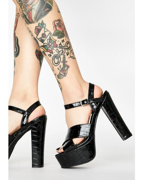 Deadly Major Issues Platform Heels