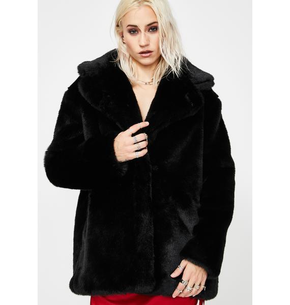 Current Mood Seedy Nature Faux Fur Coat