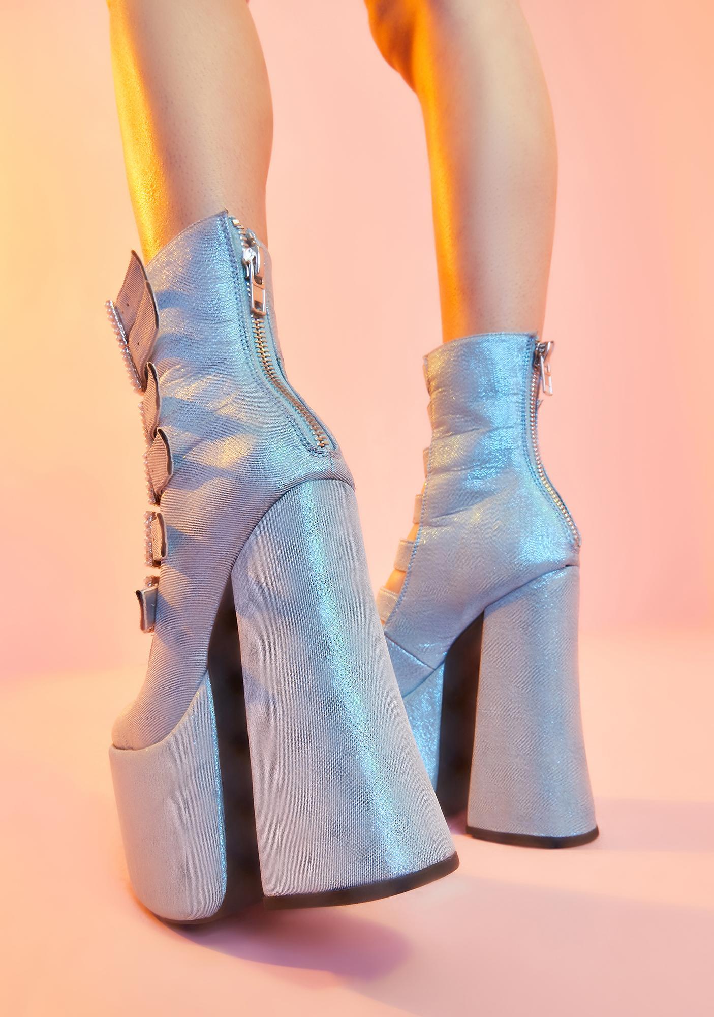 Sugar Thrillz Last Act Platform Buckle Boots