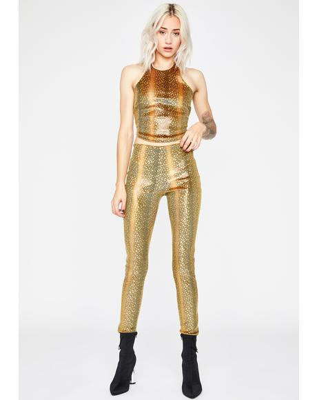 Golden Rough Times Legging Set