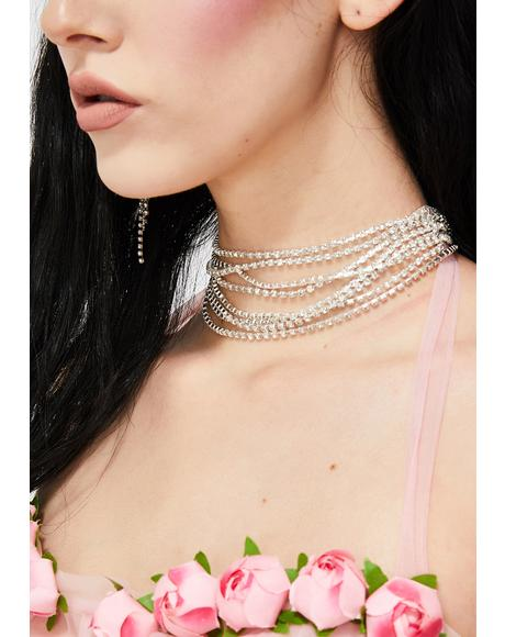 Right By Your Side Rhinestone Choker