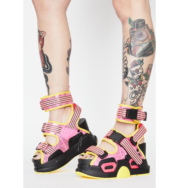 Anthony Wang Pink Daily Hustle Platform Sandals
