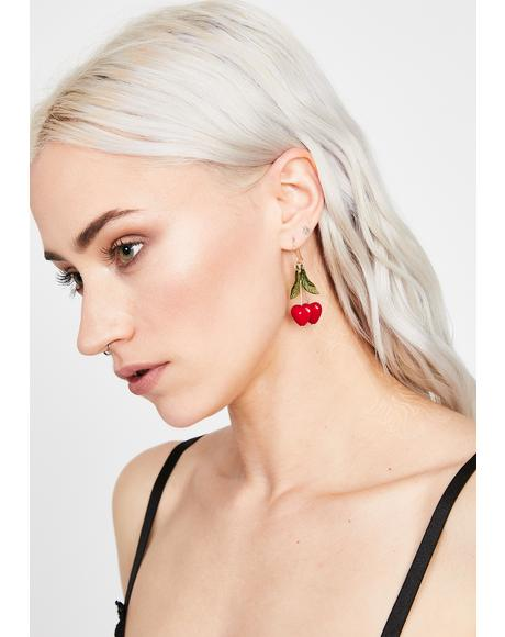 Juicy Fling Cherry Earrings