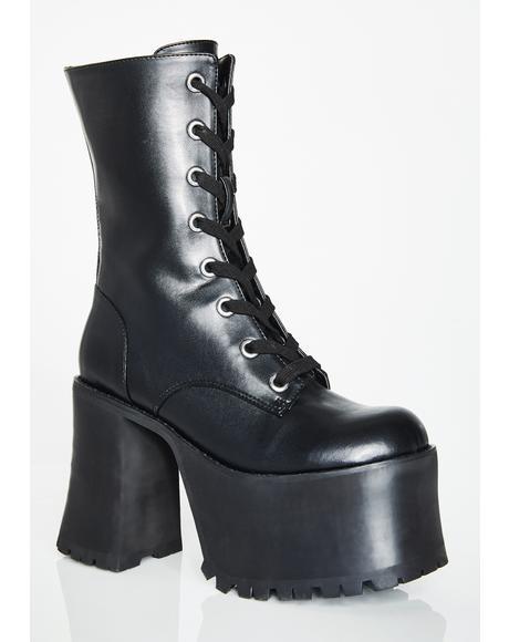 Takin' Names Platform Boots