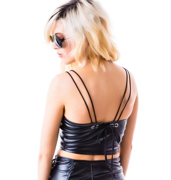 Bad Vibes Rebel, Rebel Vegan Moto Bustier