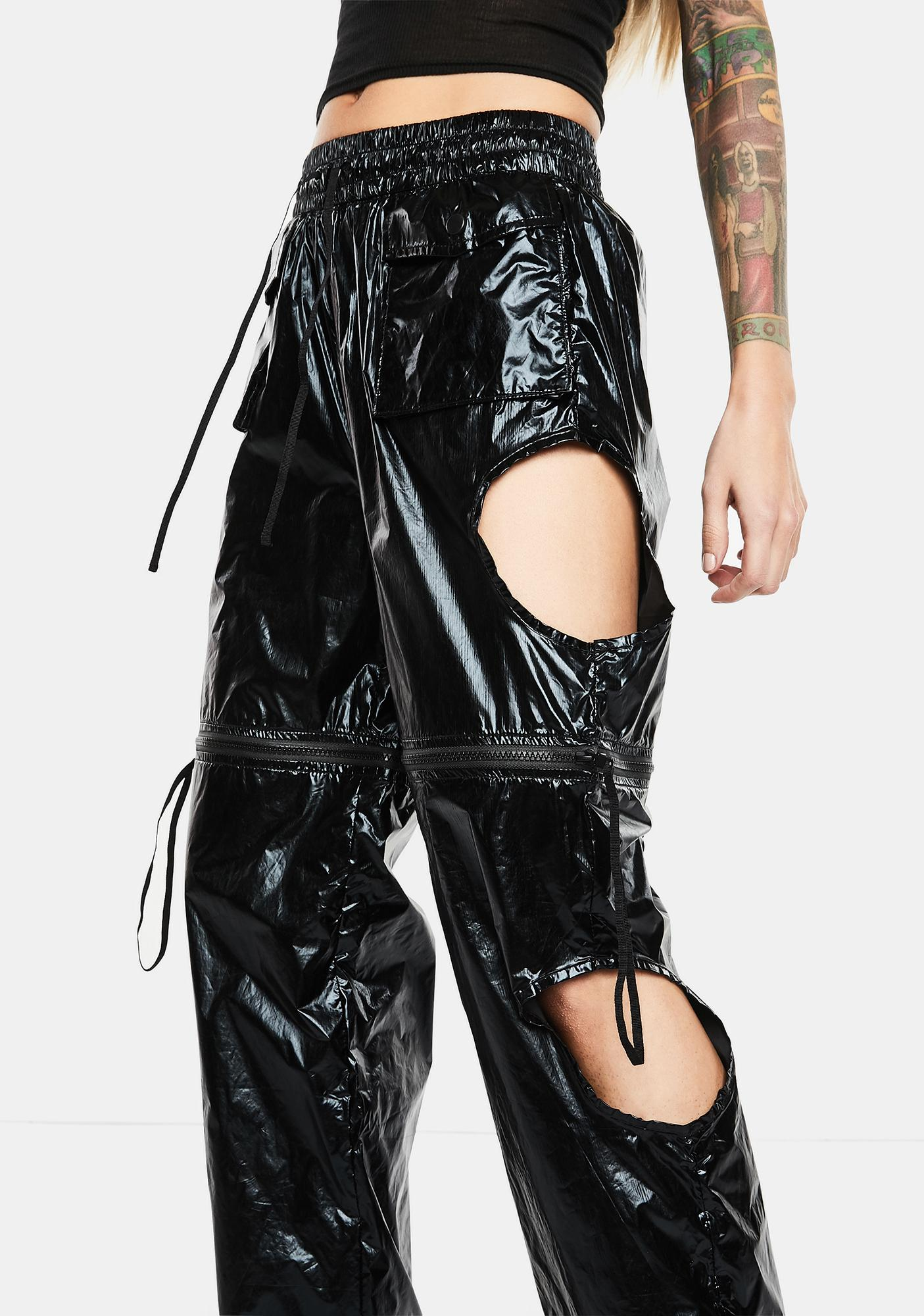 Club Exx Zero Gravity Convertible Cutout Pants