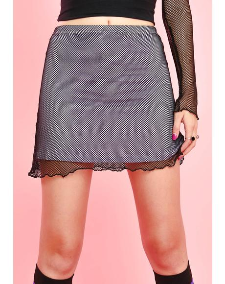Crybaby Clique Fishnet Skirt