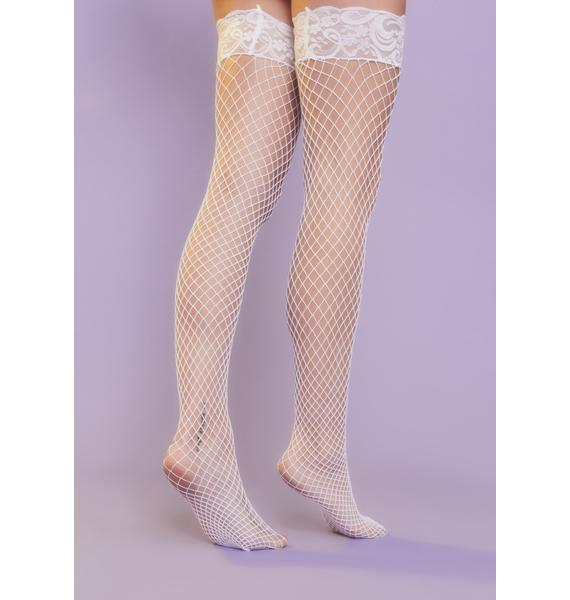 Angel Being Bad Fishnet Thigh Highs