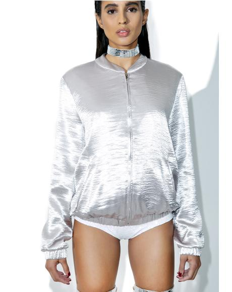 Silver Lining Bomber Jacket