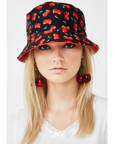 Cherry Bomb Reversible Bucket Hat