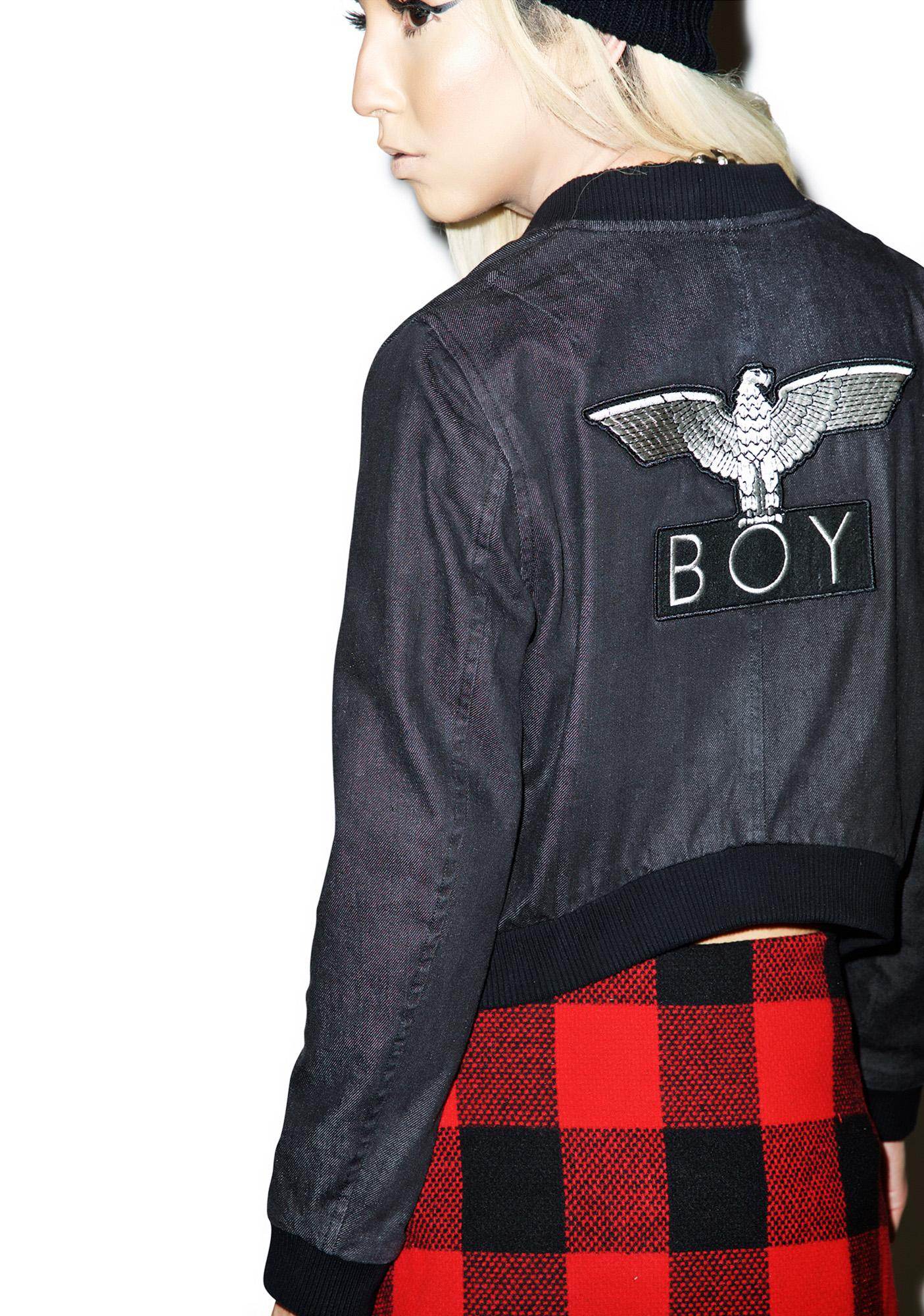 BOY London Boy 153 Cropped Denim Jacket