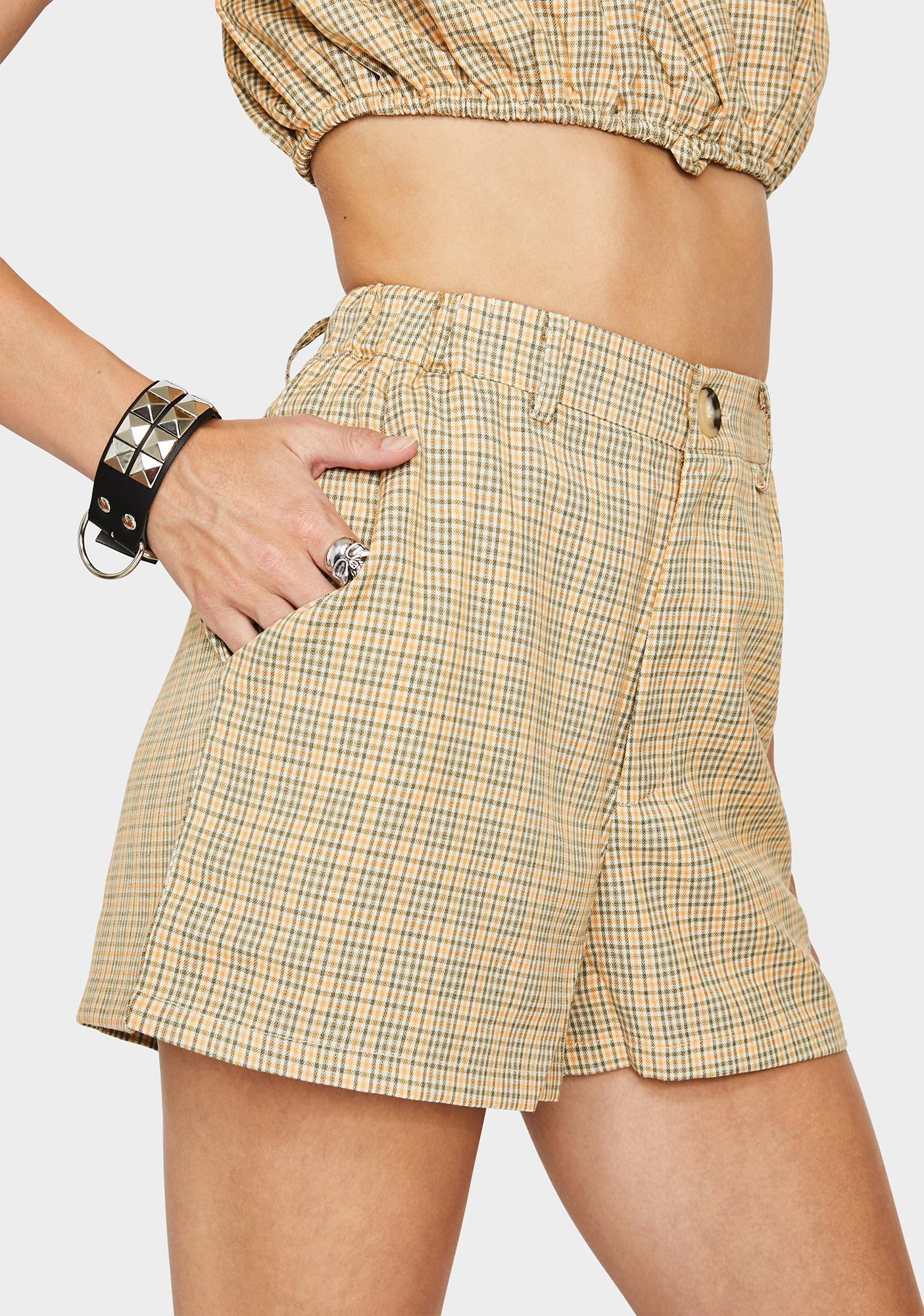 Bailey Rose Plaid High Waist Shorts