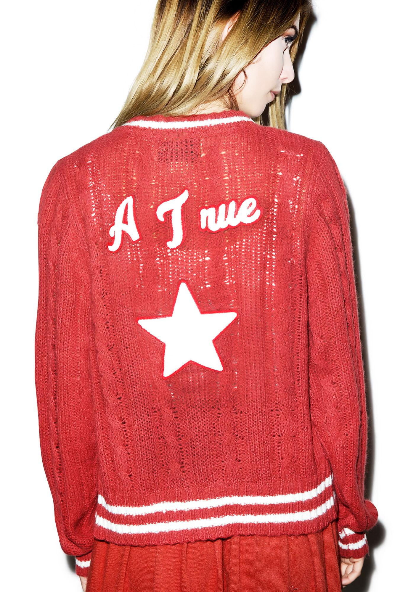 Wildfox Couture A True Star School House Cardigan
